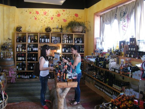 wine tasting at a shop inside Poble Espanyol